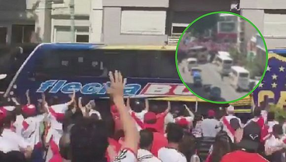 La terrible agresión de los hinchas de River Plate al bus de Boca Juniors (VIDEOS)