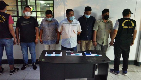 La banda fue capturada en flagrante delito cuando asaltaba a un venezolano