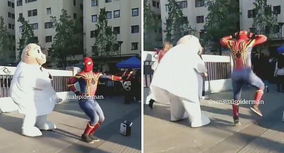 La divertida batalla de baile entre spiderman y Dr. Simi (VIDEO)