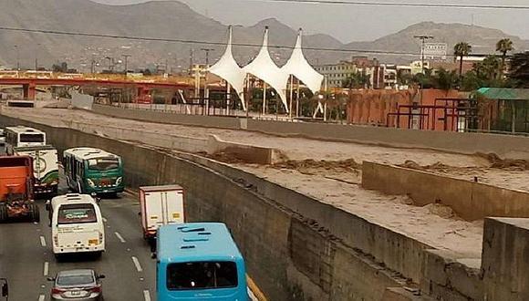 Río Rímac: preocupación invade a vecinos por aumento del caudal (FOTOS y VIDEO)