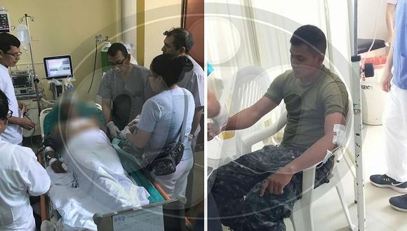 Tres efectivos de la Marina de Guerra quedaron heridos por ataque en Loreto (FOTOS Y VÍDEO)