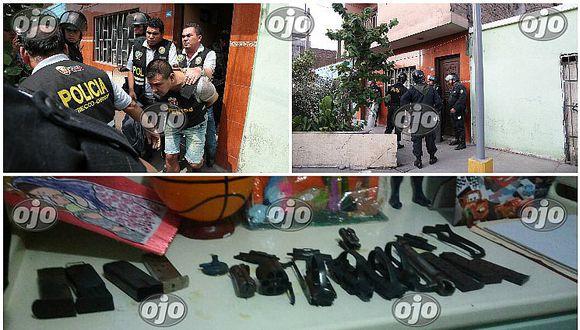¡Cayó supermafia! Exsuboficial de la FAP y otras ocho personas abastecían a sicarios (FOTOS)