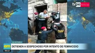 Sospechoso de feminicidio intentó huir por la ventana, pero policías logran detenerlo en La Victoria