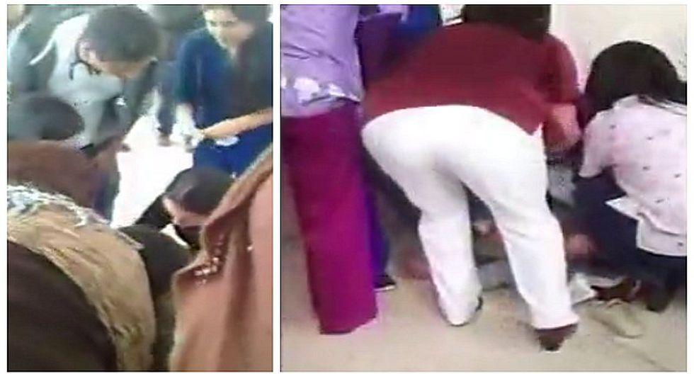 Hospital Negreiros: mujer da a luz en pleno pasadizo y EsSalud se pronuncia (VIDEO)
