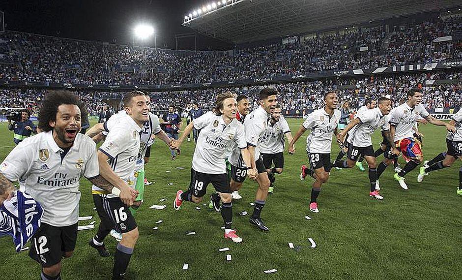 Real Madrid conquista su trigésima tercera Liga al vencer 0-2 al Málaga