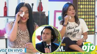 """Maricarmen Marín y Giovanna Valcárcel lloran en vivo al escuchar a 'Dyango' de """"Yo Soy"""" cantando con su familia"""
