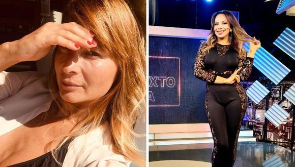 """Mónica Cabrejos se defendió de las declaraciones de Olenka Zimmerman sobre """"Al Sexto Día"""", program del que afirmó """"ya no aporta nada"""". (Instagram: @la_cabrejos / @olenkazimmermann)."""