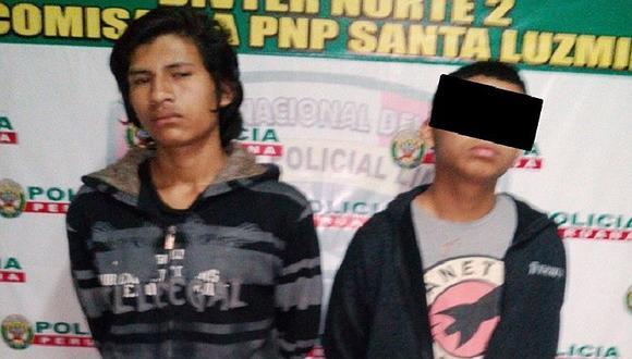 Comas: Dos hampones son capturados con el celular robado minutos antes