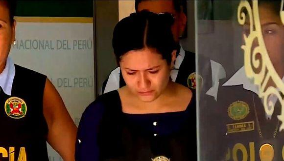 Detenida fue identificada como Fereliz Celeste Martínez. (Foto: Captura/Latina)