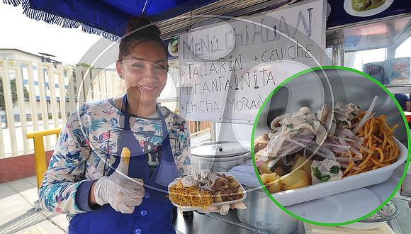 Referéndum 2018: Señora ofrece menú chihuán (FOTOS Y VIDEOS)