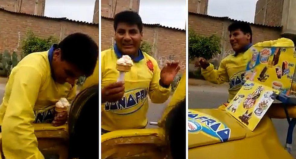 Facebook: heladero la rompe en barrios con peculiar estilo para vender (VIDEO)