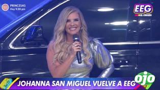 """Johanna San Miguel desborda felicidad tras su regreso a 'EEG': """"Encontrarme con mi segunda familia es demasiado emocionante"""""""