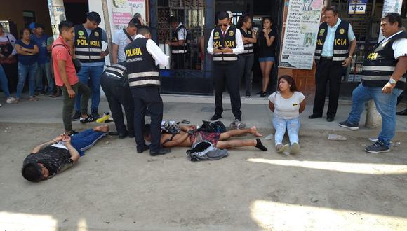 Los agentes encontraron un croquis que señalaba la ubicación de la agencia bancaria en Puente Piedra. (Foto: PNP)