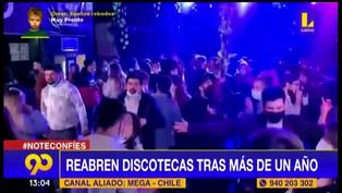 Discotecas reabren en algunas ciudades de Chile tras permanecer un año cerradas