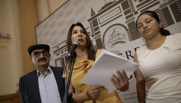 Mónica Saavedra, de Acción Popular, encabeza la Junta Preparatoria del nuevo Congreso. (Foto: GEC)