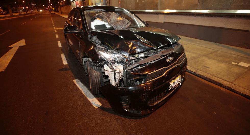 El accidente de tránsito se produjo a las 04:32 a.m, según informó Bomberos. (Foto: Kevin García)