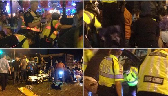 EE.UU.: camioneta colisiona con una multitud en pleno carnaval y deja  28 heridos (VIDEO)