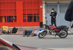 SMP: falsos repartidores de delivery caen en pleno asalto a ferretería | VIDEO